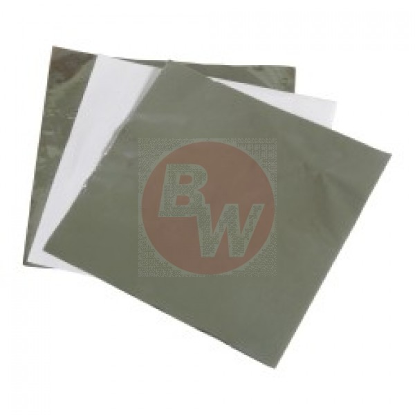 "Amber - 14""X14"" - Insulated Foil Wrap - Foil + Wax Paper 1000/Pack"