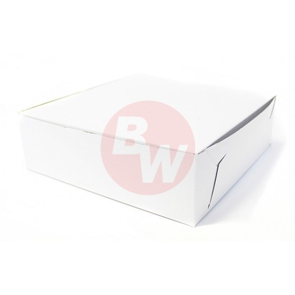 Eb Box - 17X12X6 - 1/2 Slab - White Cake Box 50/Pack