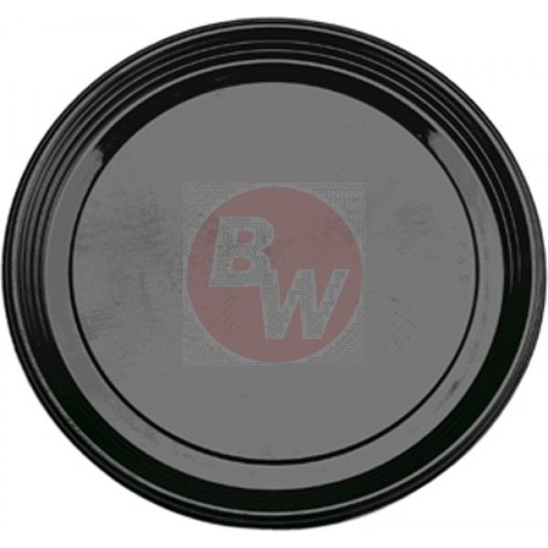 "Sabert - 9912 - 12"" Pet Catering Tray Black, Round 36/Case"