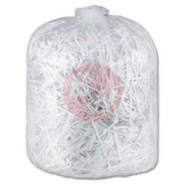 "Amber - 30"" x 38"" Ex-Strong - Clear Garbage Bag - Individually Folded - Dispenser Box 150/Case"