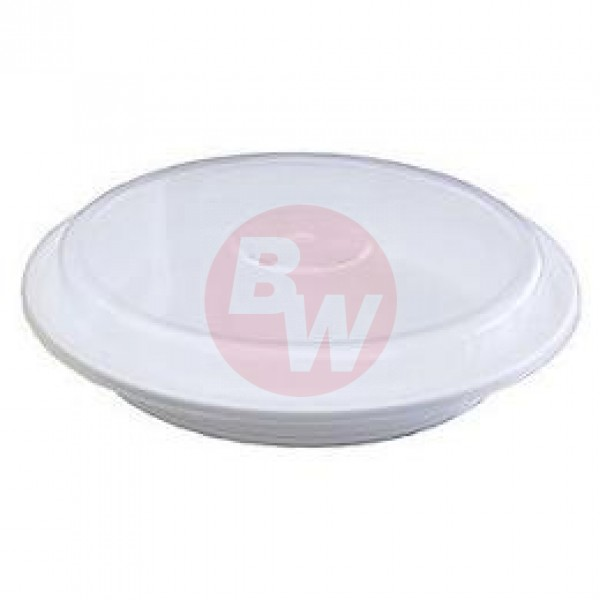 "Maple Leaf - 24 oz White - 7"" Round Microwaveable Container White 150/Case"