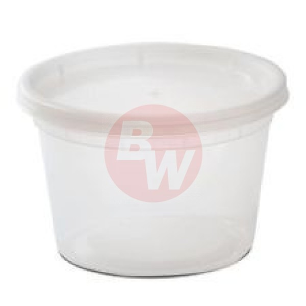 Delitainers - YL2516 - 16 Oz Microwaveable Deli Cintainer Combo 240 SETS/Case