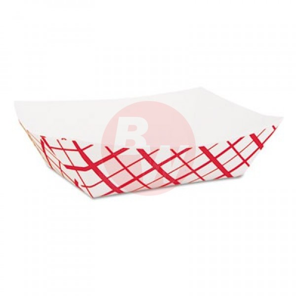 Sct - 425 - 3 Lb Red Checkered Food Tray #300 500/Case