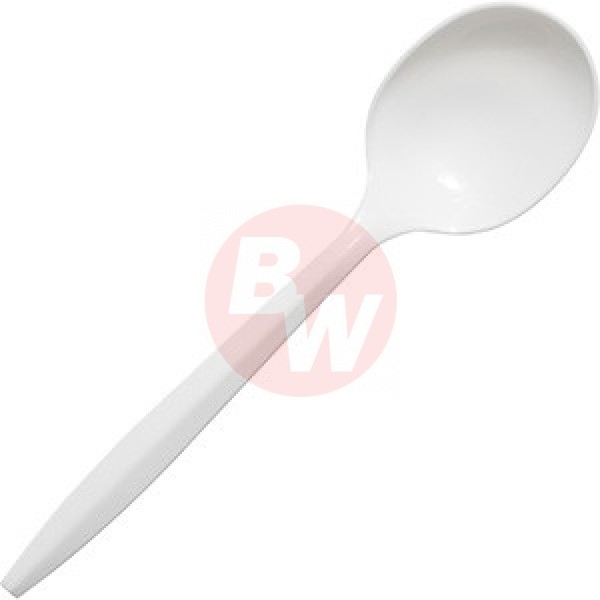 Crystal - SSPPWP1000 - Medium Weight White Soup Spoon Economy 1000/Case