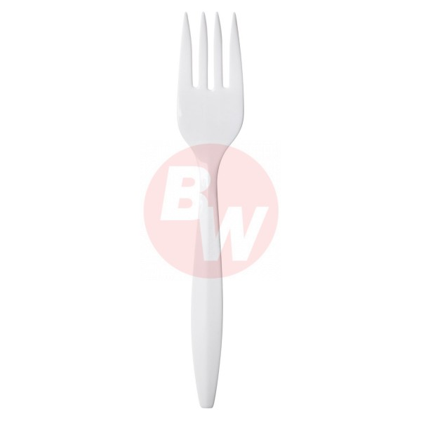 Crystal - FPPWP1000 - Medium Weight White Forks Economy 1000/Case