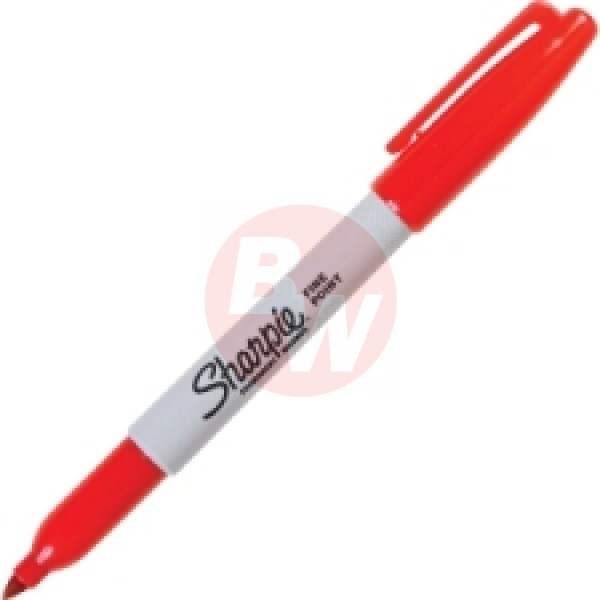 Sharpie - 30002 - Red Permanent Fine Marker - 12 / Pack
