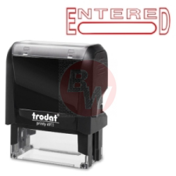 "Trodat - 11311- 4911 Printy - ""Entered"" Stamp - Each"