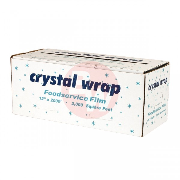 "Crystal - 71196 - 12""X2000' Food Wrap With Cutting Edge Dispenser 1 ROLL/Pack"