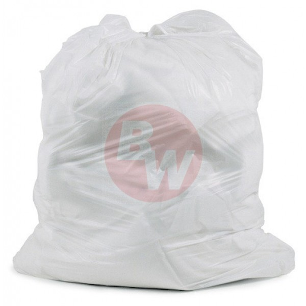 "Amber - 26"" x 36"" Regular - White Garbage Bag - Individually Folded - Dispenser Box 250/Case"