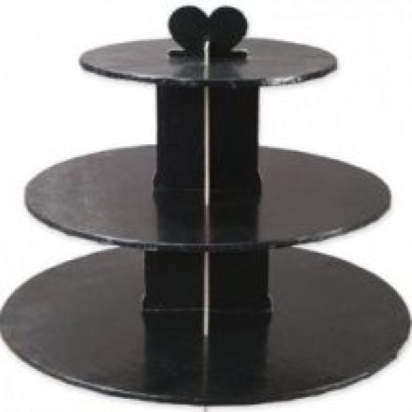 Enjay - CS-3T-BLACK - Cup Cake Stand 3 Tier Black EACH/Pack