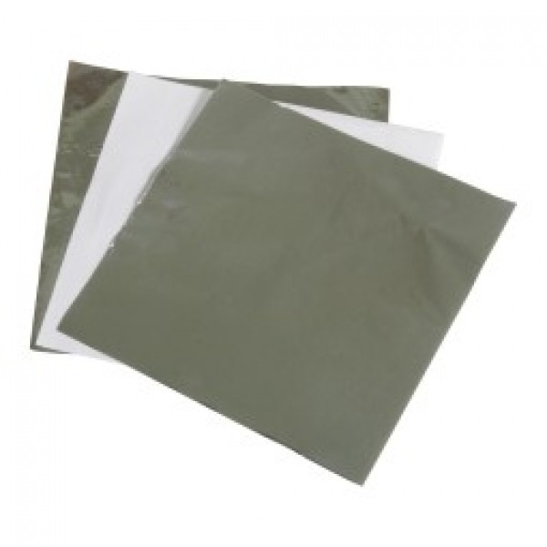 "Amber - 12""X14"" - Insulated Foil Wrap - Foil + Wax Paper 1000/Pack"