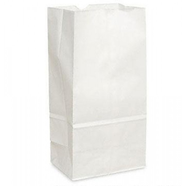 Krown - #20 - White Paper Bag 20Lb 500/Pack