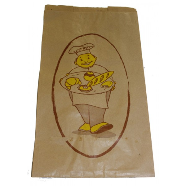 Atlas - 9 X 6 X 16 - Bread Bag Printed Large 1000/Case