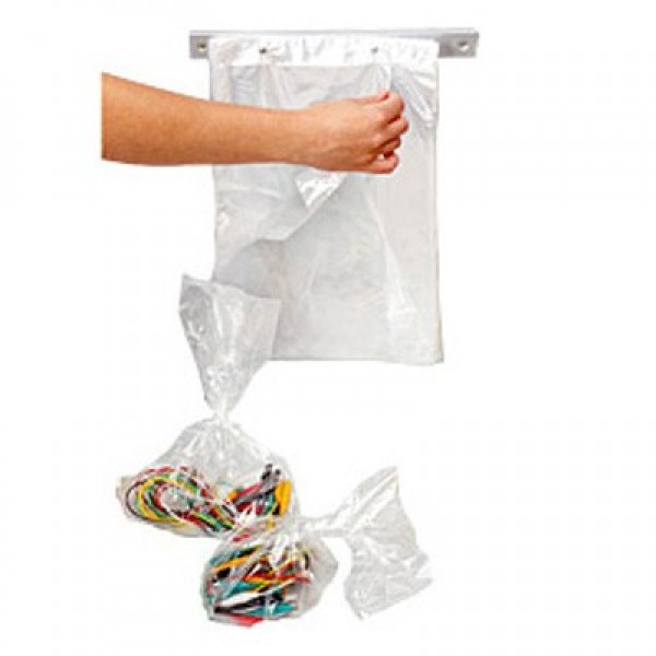 "Amber - 10""X(18.7""+1.3"") - Wicketed Poly Bags 2000/Case"