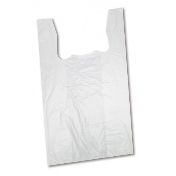Amber - S4W - T-Shirt Shopping Bags Low Density - White 1000/Case
