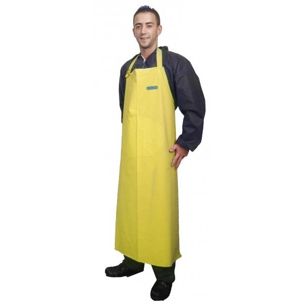 "Ronco - 41322YL - Pvc Supported Apron 35"" X 45"", Yellow  14 Mil 1/Pack"
