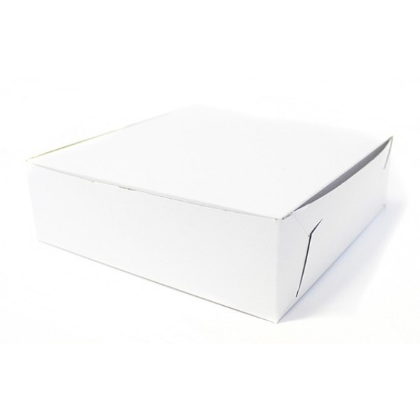 Eb Box - 8X4X3.5 - White Cake Box 250/Pack
