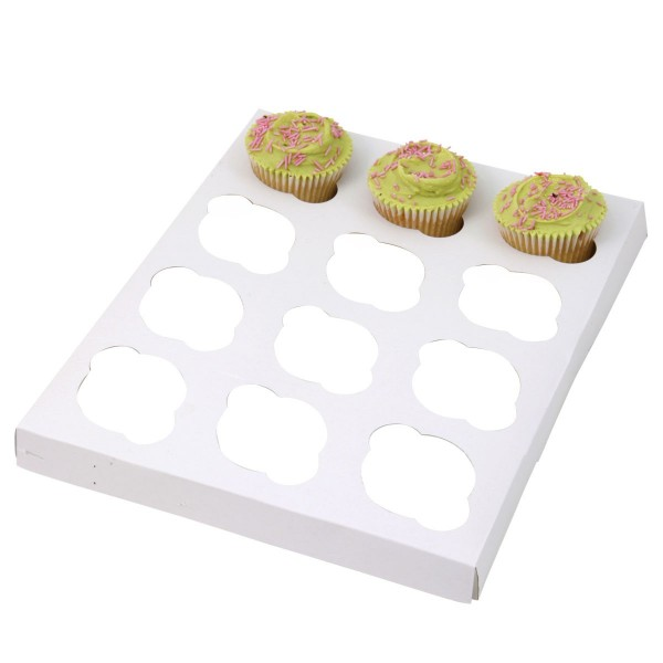 Eb Box - Cup Cake Insert For  12 Regular, White 100/Pack