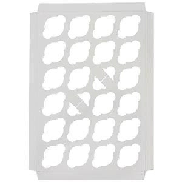 Eb Box - Cup Cake Insert 24 Pack Mini, White 100/Pack