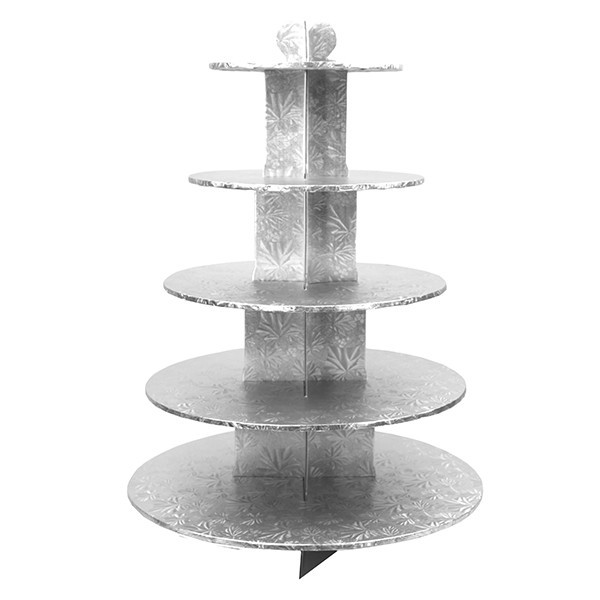 Enjay - CS-5T-SILVER - Cup Cake Stand 5 Tier Silver EACH/Pack