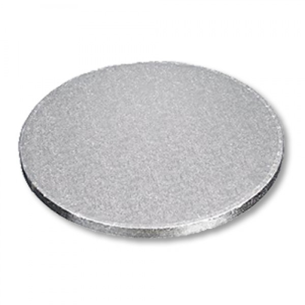 "Enjay - 1/2-16RS12 - 16"" X 1/2"" Thick Round Cake Board  - Silver 6/Pack"