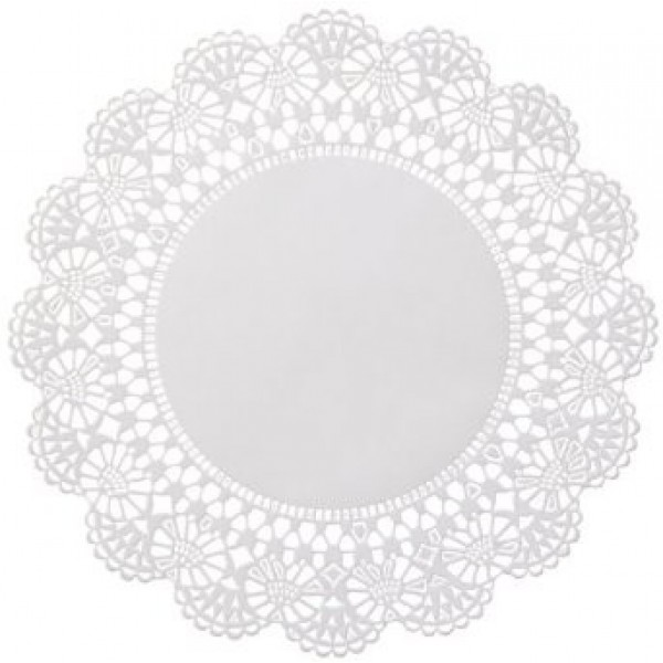 "Touch - 21-000 - 4"" Paper Doilies Round Scallop Edge 1000/Pack"