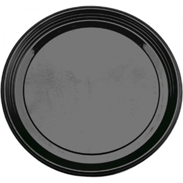 "Sabert - 9918 - 18"" Pet Catering Tray Black, Round 36/Case"