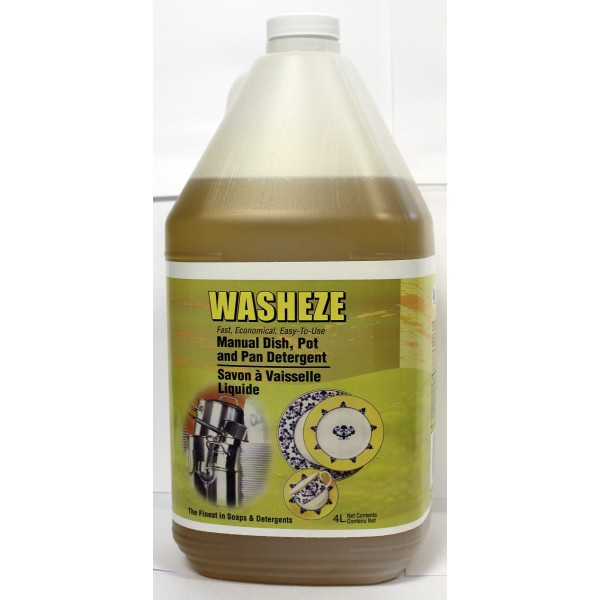 Washeze - 01216 - Manual Liquid Dishwashing Soap 4x4L/Case