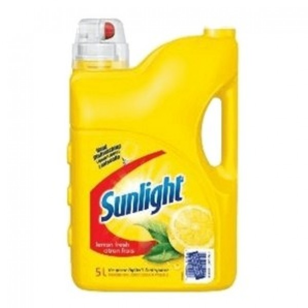 Sunlight -  - Manual Lemon Liquid Dishwashing Soap 5L/Each