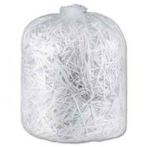 "Amber - 20"" x 22"" Regular - Clear Garbage Bag - Individually Folded - Dispenser Box 500/Case"