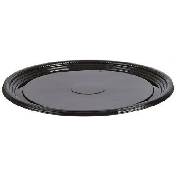 "Wna - A518PBL - 18"" Plastic Catering Tray Black 25/Case"