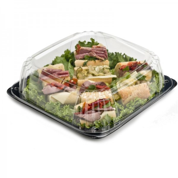 "Sabert - 9616 - Ultrastack 16"" Square Catering Tray Combo 25 SETS/Case"