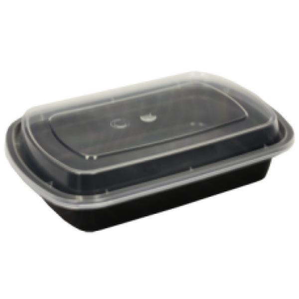Maple Leaf - L928 - 28 Oz Microwaveable Rectangular Black 150/Case