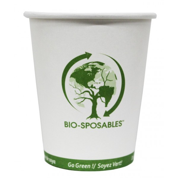 Bio-Sposables - BSP10 - 10 Oz Hot Paper Cup -Pla Lined 1000/Case