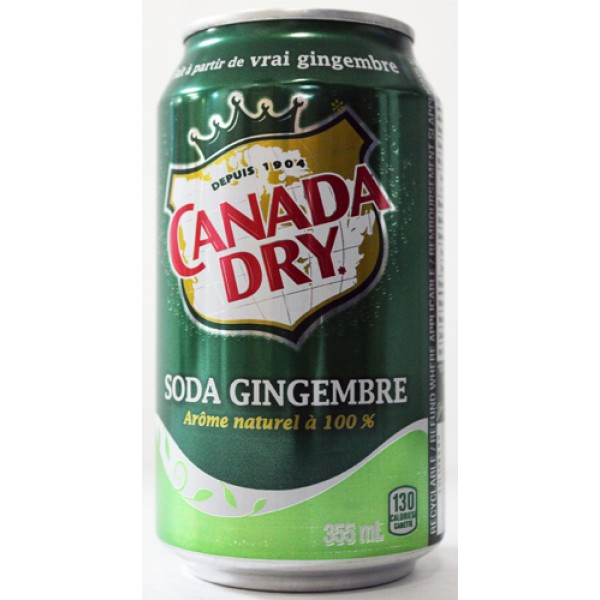 Canada Dry Ginger Ale - 355ml Cans x 24 Pack
