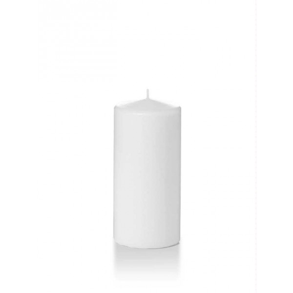 "Yummi - 31060 - Wax Candle 6""Hx2.8"" Pillars White 3/Pack"