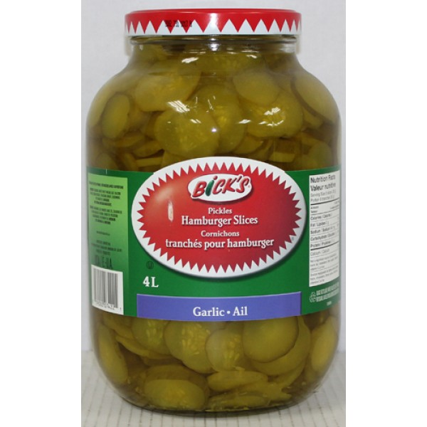 Bick's - Hamburger Slice Dill & Garlic Pickles 4L