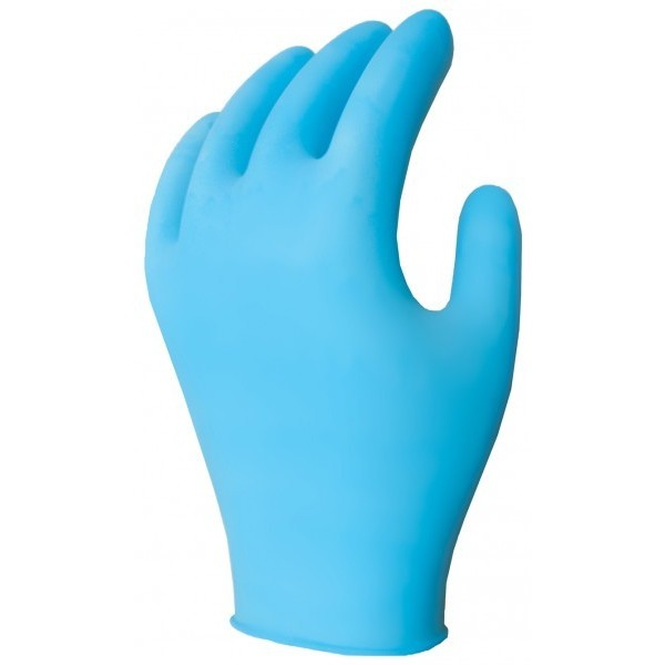 Ronco - 375 - Medium Nitech Blue Gloves Powder Free 5 Mil 100/Pack