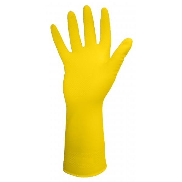 Ronco - 15-332-09 - Large Yellow Latex Long Gloves (16 Mil) **Heavy Duty** 12 PAIR/Pack