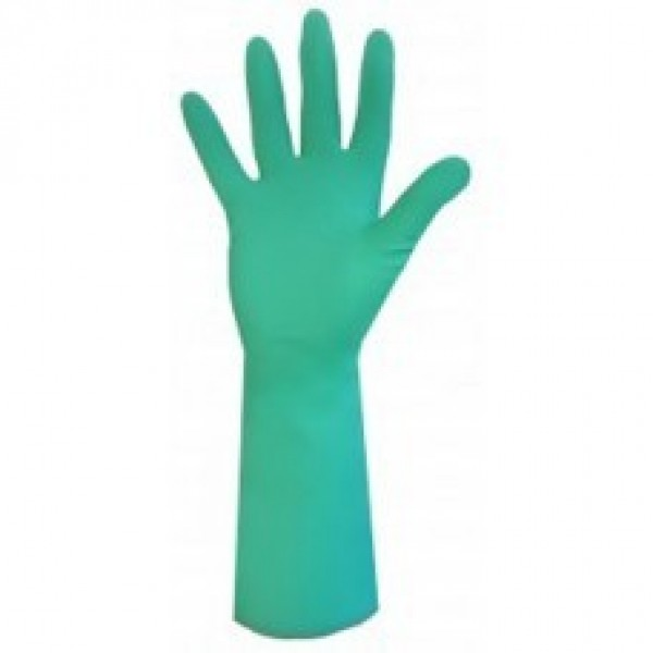 Ronco - 19-923-08 - Medium Nitrile Green Long Heavy Duty 15Mil 12 PAIR/Pack