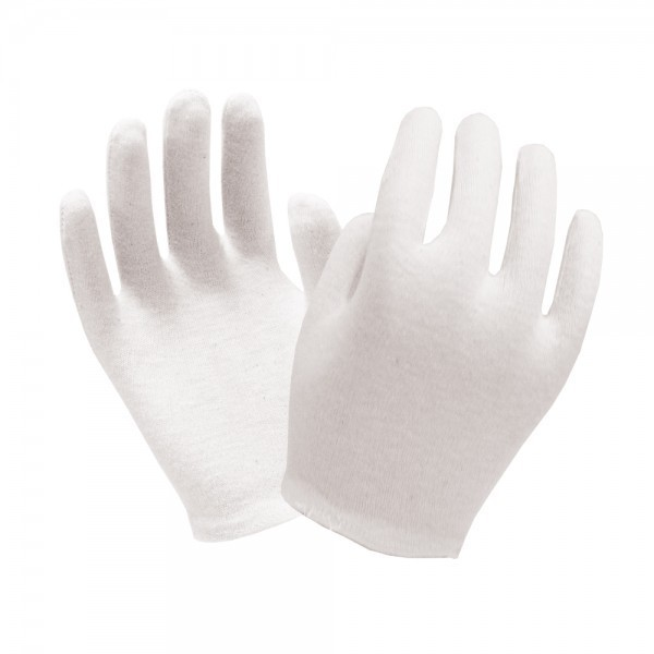 Ronco - 65-115 - Mens - Cotton Inspection Bleached Gloves White 24 PAIR/Pack