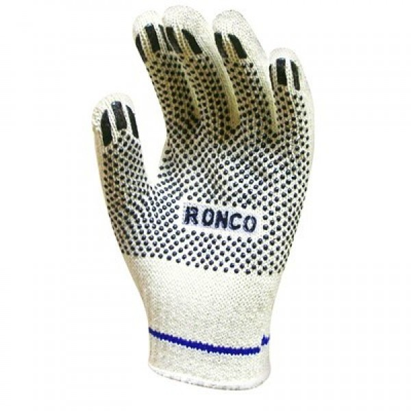 Ronco - 65-020-10 - Extra Large Work Gloves Stringknit With 1 Side Pvc Dots  12 PAIR/Pack