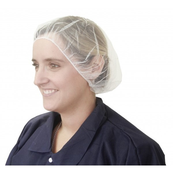 "Ronco - 1818 - 21"" Hairnet Polyester Mesh (White) 100/Pack"