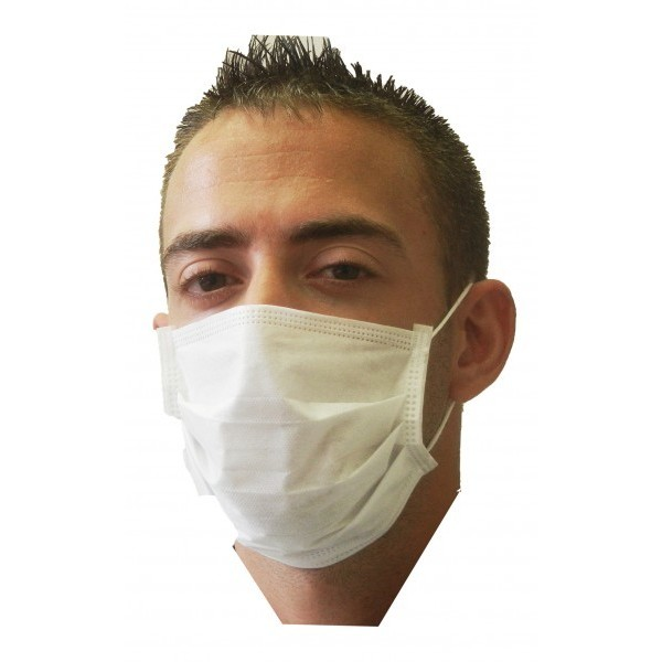 Ronco - 5613 - Pleated Mask White 50/Pack