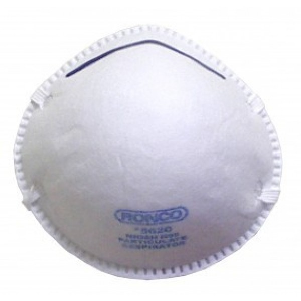 Ronco - 5620 - Dust Mask Regular Style Particulate Respirator 20/Pack