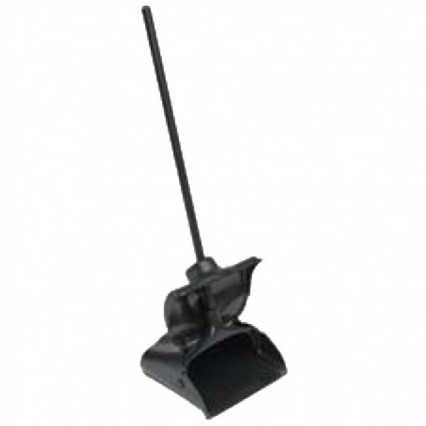 Tisa - TS0345 - Plastic Lobby Dustpan With Cover - Black 1/Each