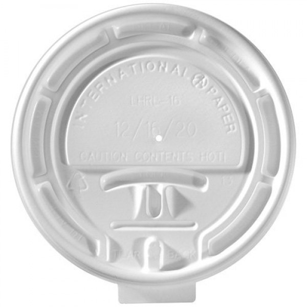 Ipp - LHRL-16 - White Tear Back Lid For 10-20 Oz Cup 1000/Case