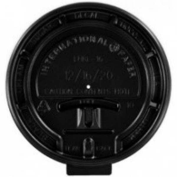 Ipp - LHRLB-8 - Black Tear Back Lid For 8 Oz Cup 1000/Case