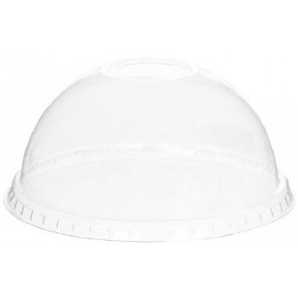 Bio-Sposables - CF 9402 - Dome Lid For 14-16 Oz Pla Cup With Hole 1000/Case