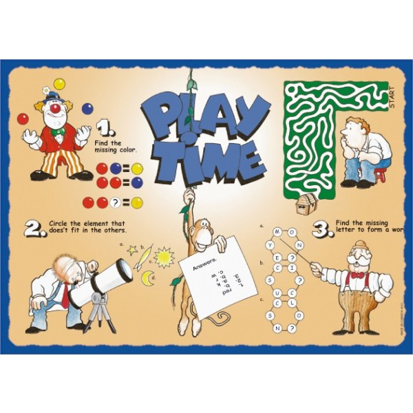 Sanfacon - 510 - Play Time Placemats 1000/Pack